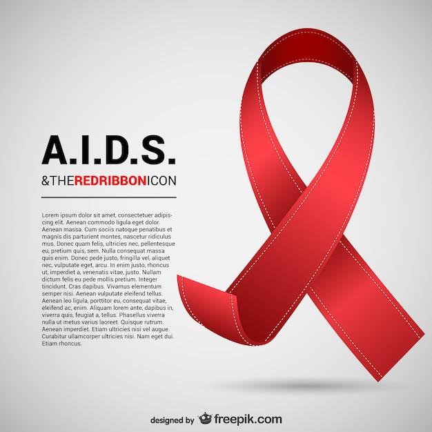 Aids ribbon Vetor grátis