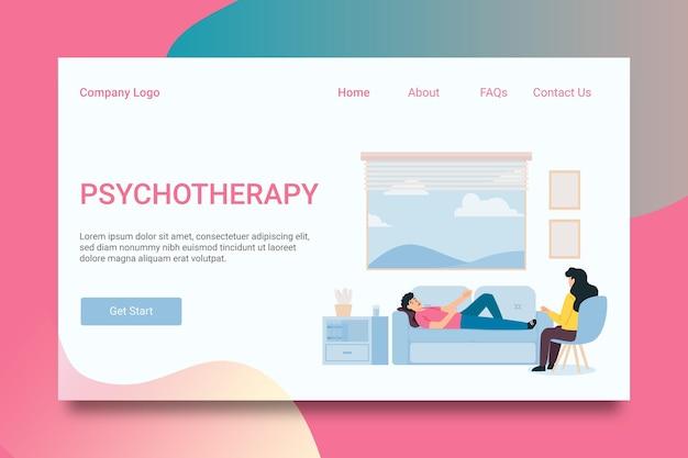 Ajuda psicológica - página de destino Vetor grátis