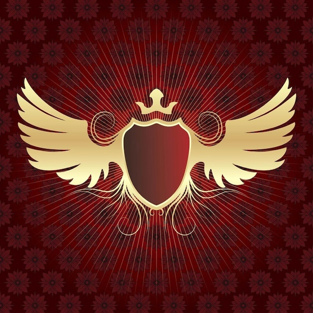 Alado de ouro escudo baixar vetores gr tis for Editor de logotipos