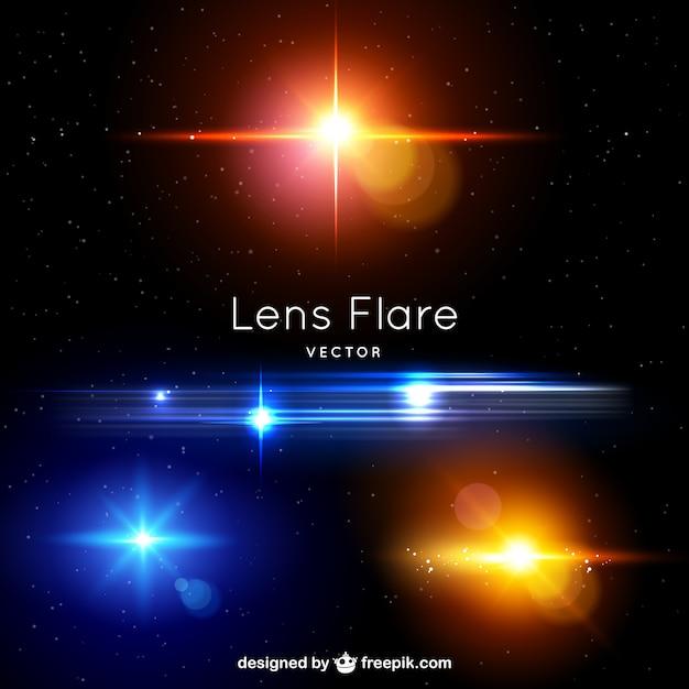 Alargamentos da lente Vetor grátis
