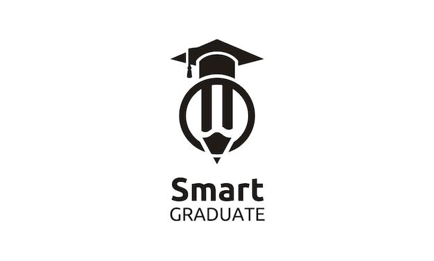 Alcançar o melhor para escola / universidade / faculdade / logotipo de pós-graduação Vetor Premium