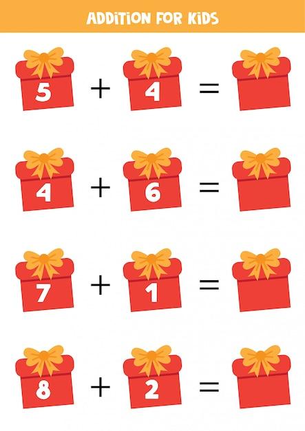Além de caixas de presente de natal. Vetor Premium