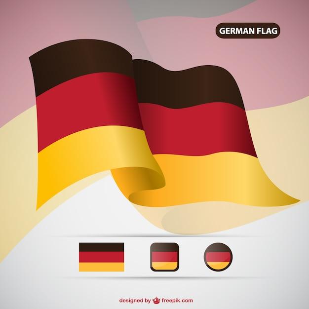 Alemanha bandeira do vetor Vetor grátis