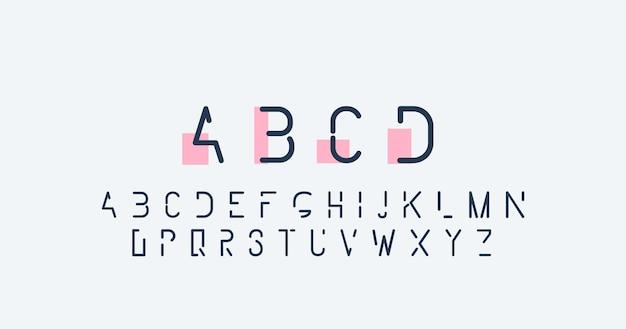 Alfabeto abstrato mínimo Vetor grátis
