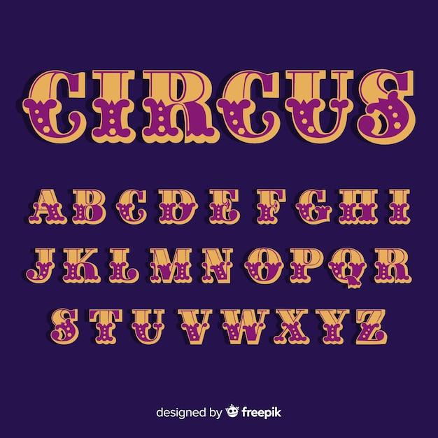 Alfabeto de circo vintage Vetor grátis