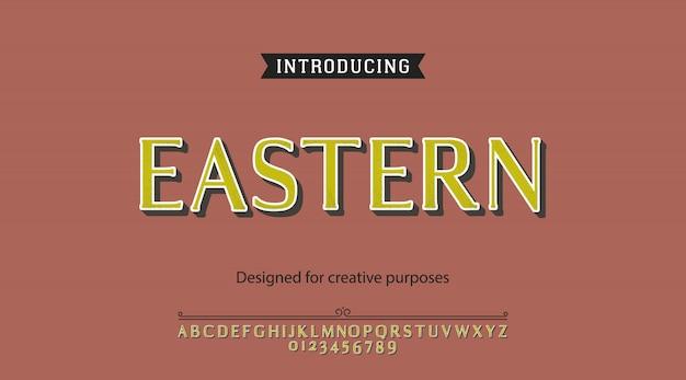 Alfabeto de tipo oriental Vetor Premium