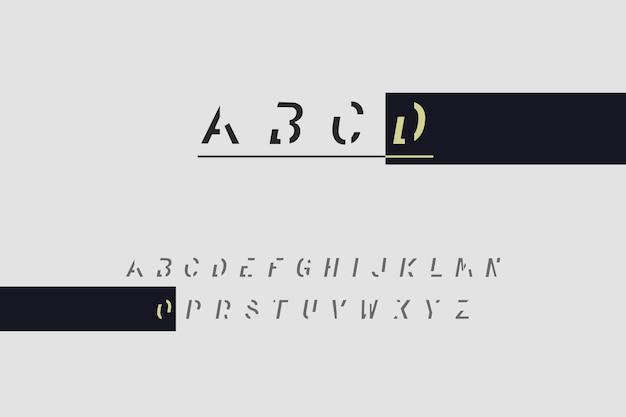 Alfabeto mínimo abstrato Vetor grátis