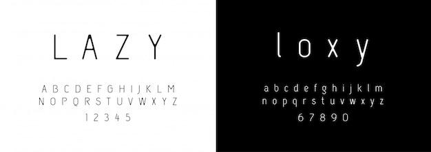 Alfabeto moderno de moda Vetor Premium