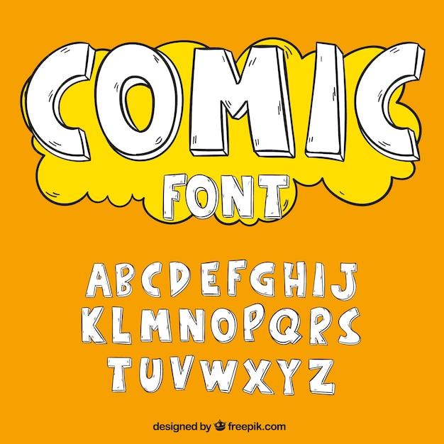 Alfabeto no estilo cómico Vetor grátis