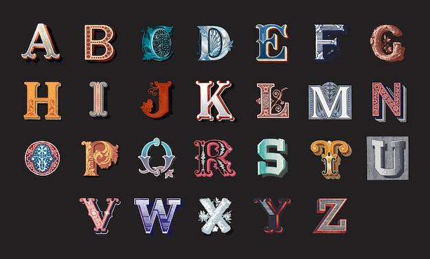 Alfabeto Vetor grátis