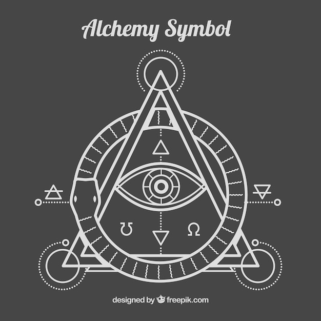Alhemy símbolo no estilo linear Vetor grátis