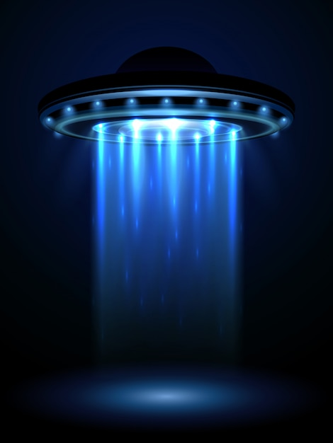 Aliens ufo Vetor Premium