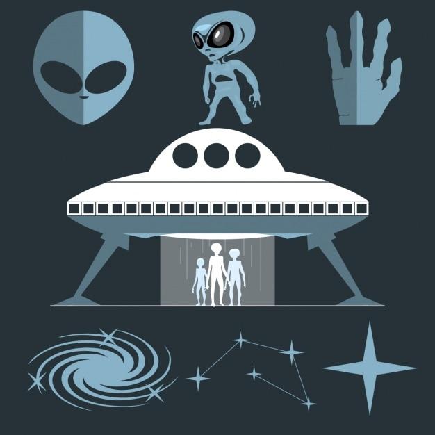 Aliens Vetor grátis
