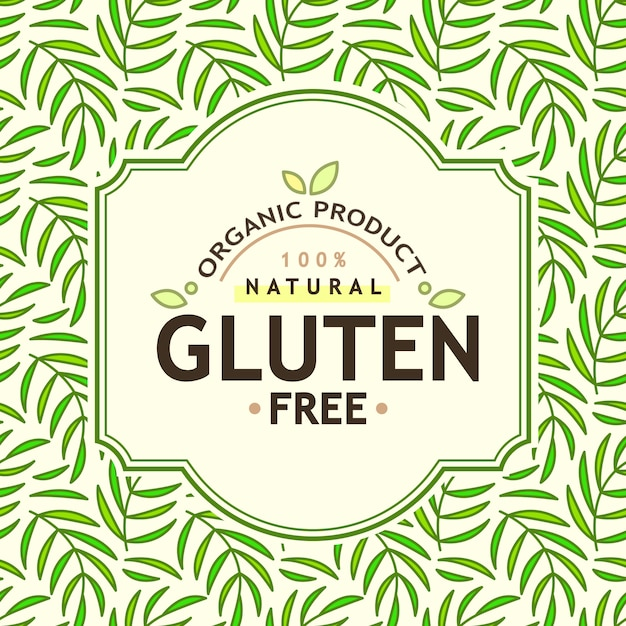 Alimentos orgânicos e produtos naturais Vetor grátis