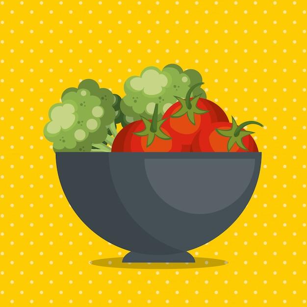 Alimentos saudáveis legumes frescos Vetor grátis