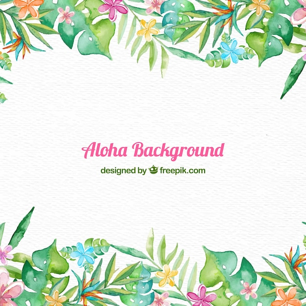 Aloha frame background Vetor grátis