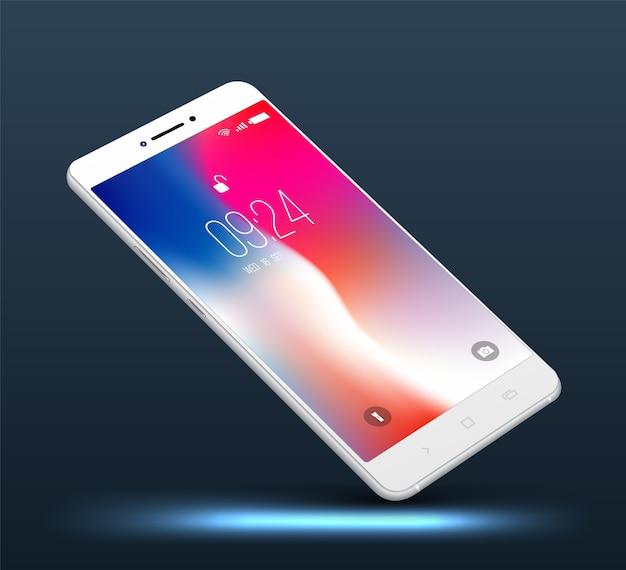Alta realista smartphone realista. Vetor Premium