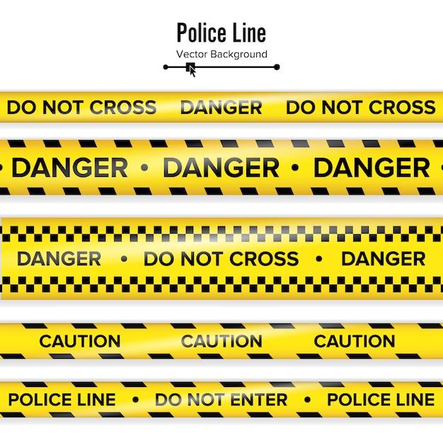 Amarelo com linha de polícia preta. Vetor Premium