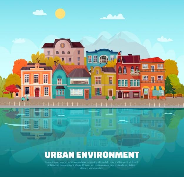 Ambiente urbano Vetor grátis