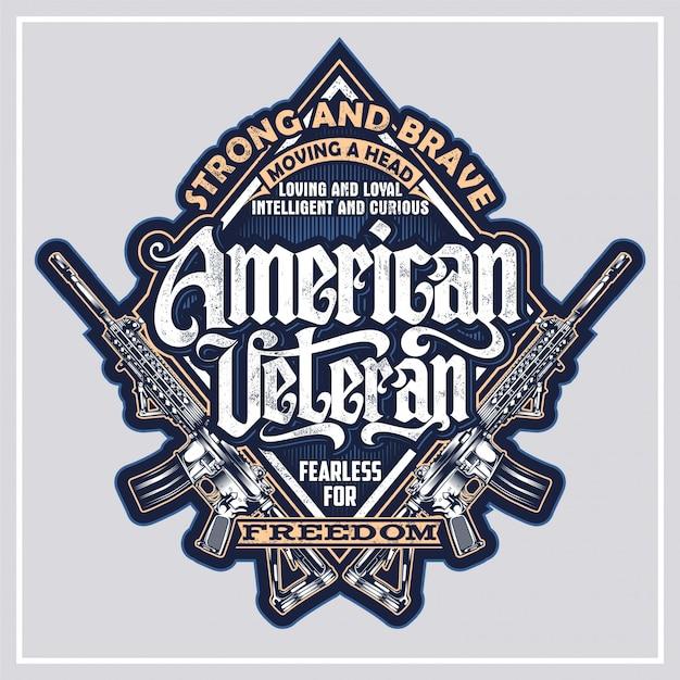 American veteran Vetor Premium