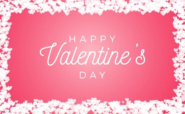 Amor abstrato para o seu quadro de dia dos namorados isolado no fundo rosa. Vetor Premium