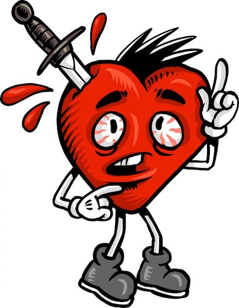 Amor coração Vetor Premium