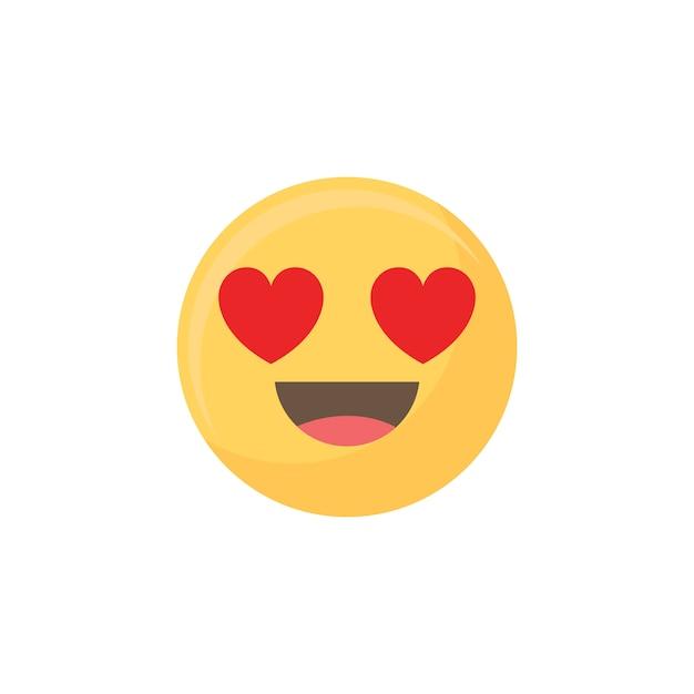 Amor emoji Vetor grátis