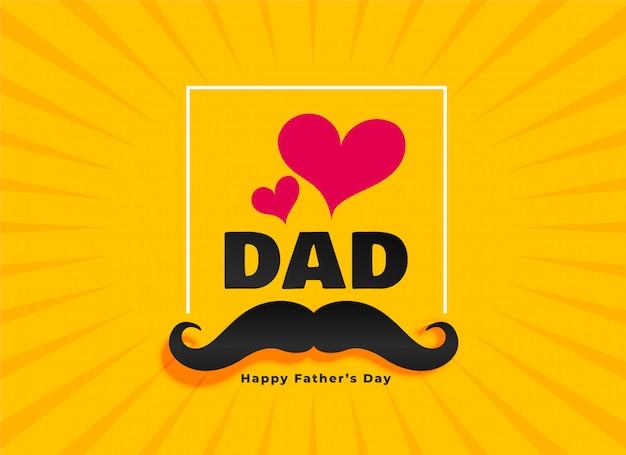 Amor pai feliz dia dos pais cartão Vetor grátis