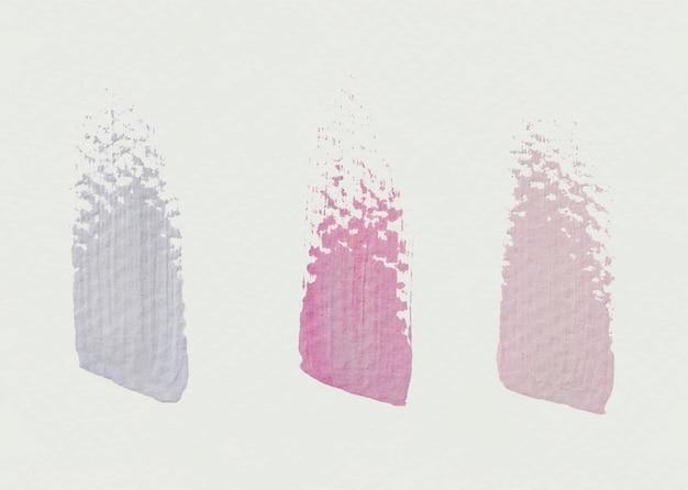 Amostras de traçado de pincel Vetor grátis