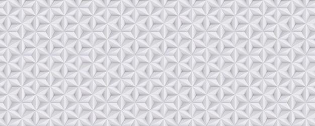 Amplo abstrato branco, fundo cinza, padrão de papel 3d com estrelas, geométrico Vetor Premium