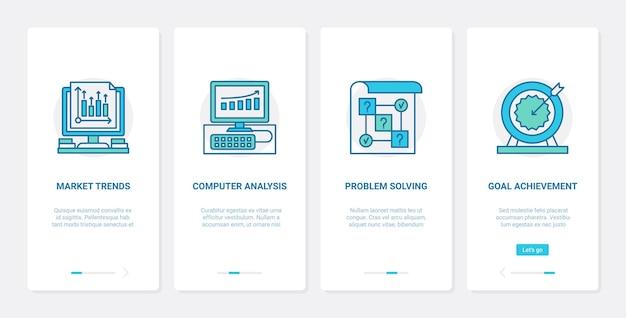 Análise de dados de tendências de negócios e ilustração analítica Vetor Premium