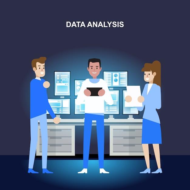 Análise de dados e pesquisa Vetor Premium