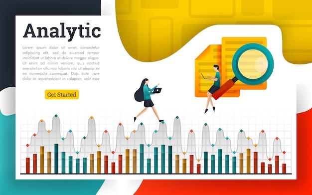 Analise documentos e explique em gráficos analíticos Vetor Premium