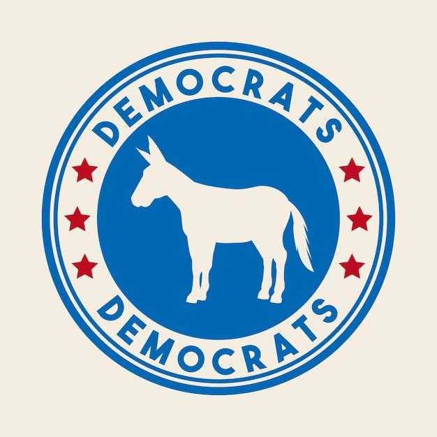 Animal de partido político democrata Vetor Premium