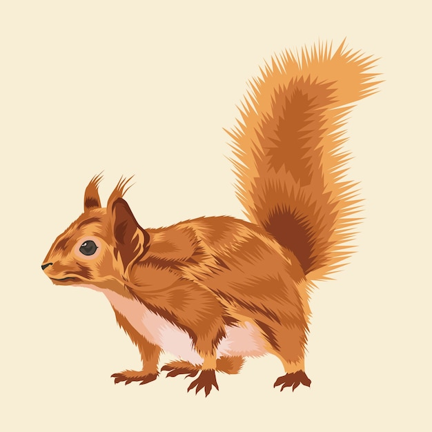 Animal vetor de esquilo Vetor Premium
