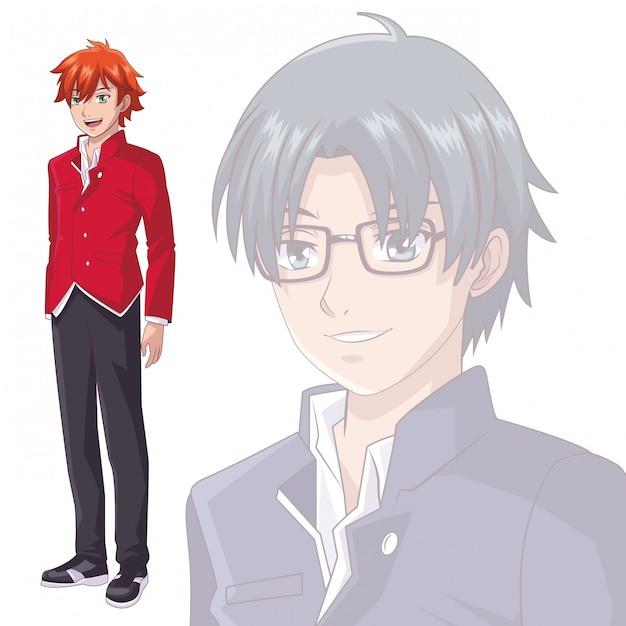Anime mangá Vetor Premium