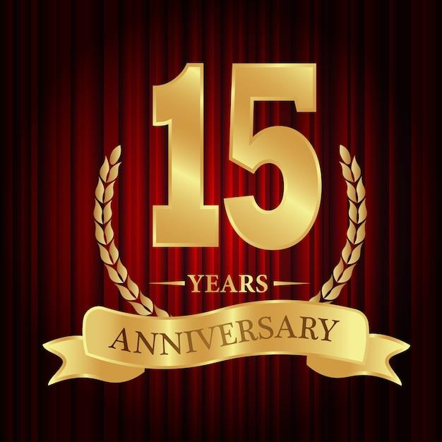 Aniversário de 15 anos Vetor Premium