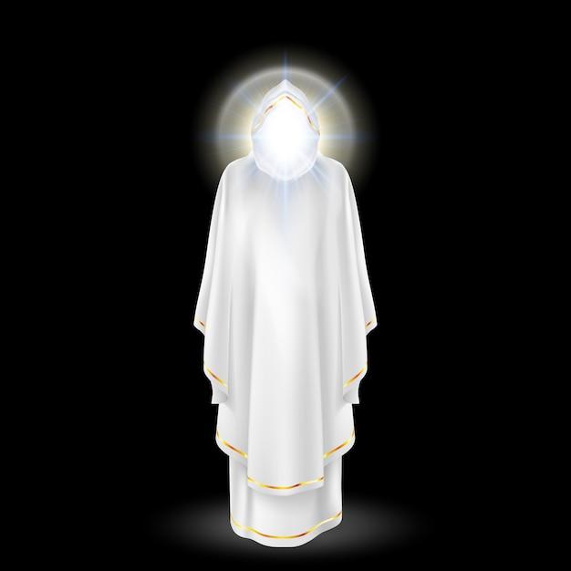 Anjo branco Vetor Premium
