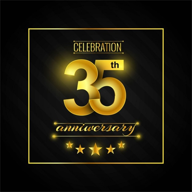Anniversary 35 Vetor grátis