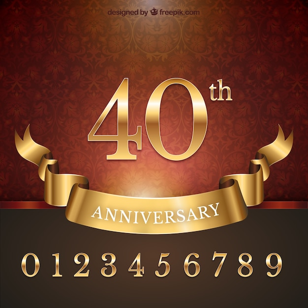 Anniversary Vetor grátis