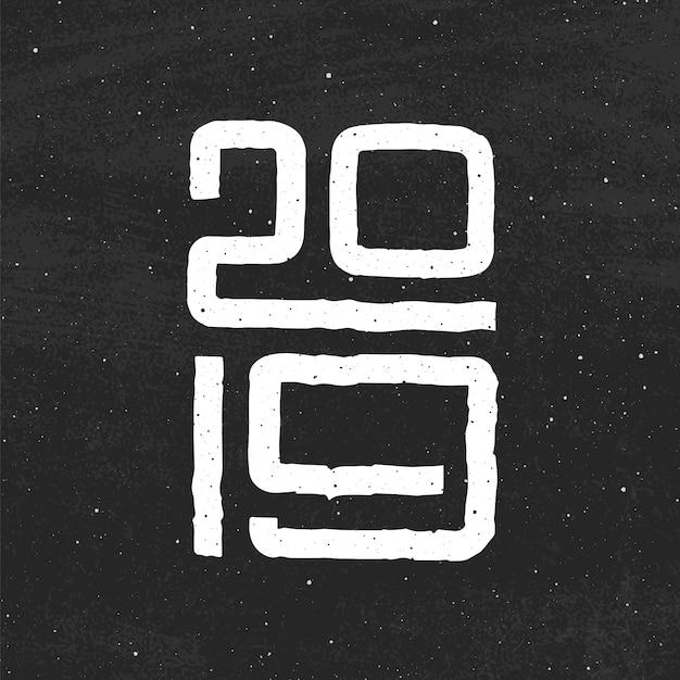Ano chinês do porco 2019. feliz ano novo design de cartão Vetor Premium