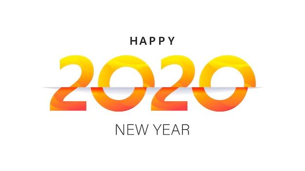 Ano novo 2020 modelo de banner estilo insta layout de cartão postal de natal minimalista Vetor Premium