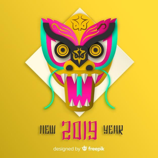 Ano novo chinês de 2019 Vetor grátis
