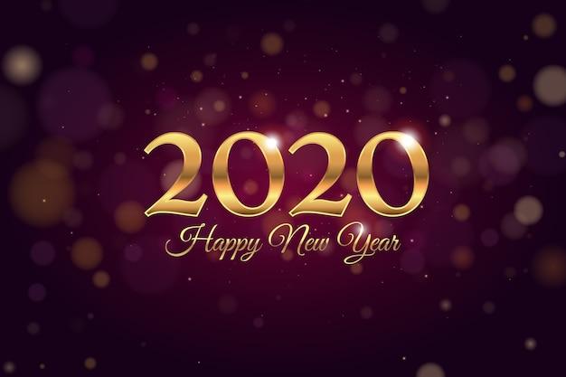 Ano novo de fundo desfocado Vetor grátis