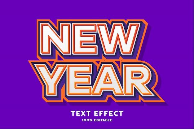 Ano novo - efeito de texto, texto editável Vetor Premium