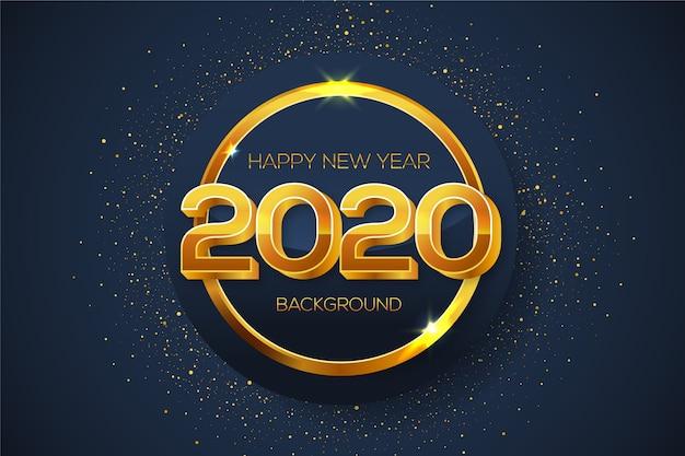 Ano novo fundo dourado Vetor grátis