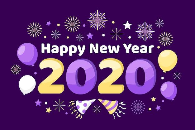 Ano novo plano de fundo Vetor grátis