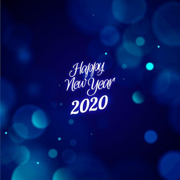 Ano novo turva 2020 papel de parede Vetor grátis