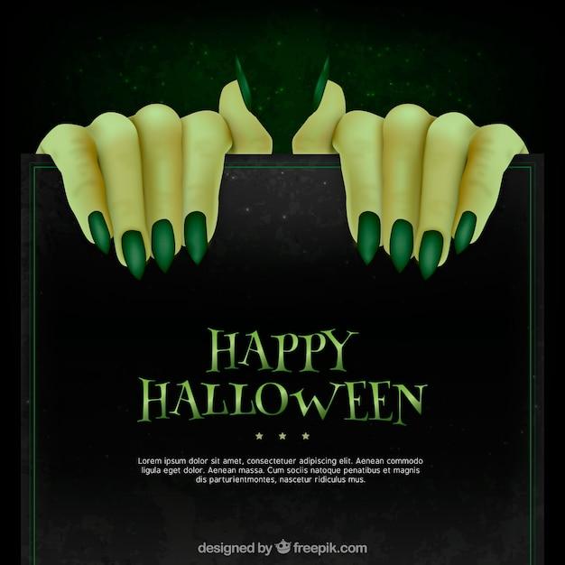 Antecedentes de mãos de monstros com unhas verdes Vetor grátis
