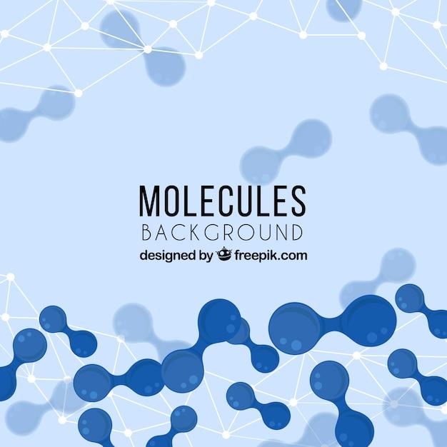 Antecedentes de moléculas abstratas Vetor grátis